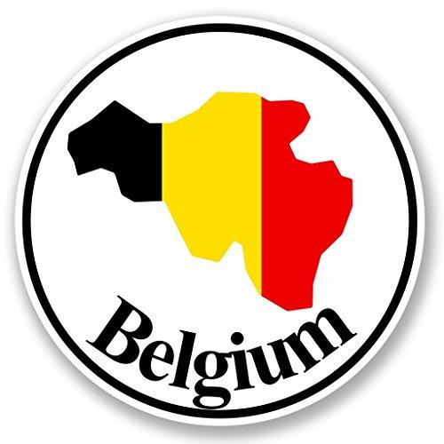 DestinationVinyl 2 x 10cm/100mm Belgien Vinyl Selbstklebende Sticker Aufkleber Laptop Reisen Gepäckwagen Cool Zeichen Spaß #5795