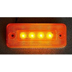 10X 12V LED Outline Laterale Ambra Arancione Luci Per Camion Caravan Camper Ribaltabile