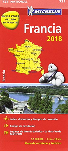 Mapa National Francia (Mapas National Michelin) por Vv. Aa