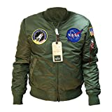 Alpha Industries MA-1 VF NASA Bomberjacke (XXL, sage-green)