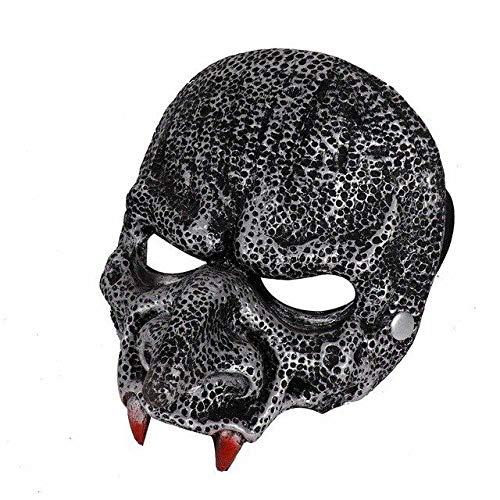 WanTo Karneval Disfraz Adulto Vampirina Mascara De Latex Realista Halloween Party Horror Monster Teufel Vampir Maske, schwarz