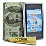 Accessory Master  Cover in Silicone per LG Optimus I3 E400 '100 banconota' Design