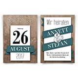 Save the Date Karten Hochzeit (20 Stück) - Kalenderdatum - Hochzeitskarten