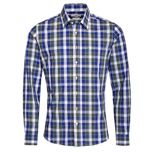 Almsach Trachtenhemd Malte Slim Fit Mehrfarbig in Blau