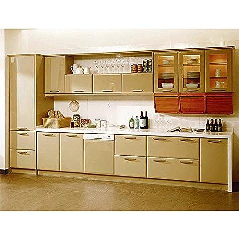 En Solde Nouveau 0.61*5M Auto-Adhésif Stickers de Cabinet en Top Qualité PVC Rouleau de Papier pour Meubles / Cuisine / Salle de bains Brun