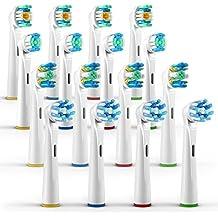 ORAX 16 pzs. Cabezales de cepillo dientes eléctrico Oral B, Surtido 4 psz. de todo tipo de recambio cepillo dientes
