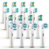 ORAX 16 pzz. Varietà testine Oral B - Ricambi spazzolino per Oral B spazzolino elettrico – 4 pezzi di ogni modello di testine ricambi Oral B