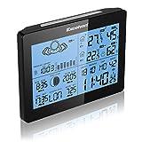 Excelvan Funkwetterstation wetterstation Funk Wecker Thermometer Hygrometer LCD Wetterstation mit Präzisionsvorhersage Temperatur Feuchtigkeit Sunrise/Sunset Zeit Barometer inkl. Außensensor - 6
