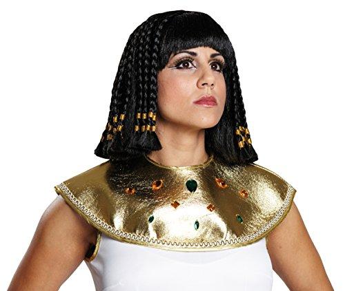 Schwarze Cleopatraperücke Perücke Cleopatra Cleo Asterix und Obelix Damenperücke Dame mittellang