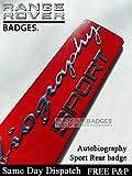 Autobiographie Sport Rot Chrom Kofferraum Badge EMB OEM Spec Rot, chrom Autobiographie Sport