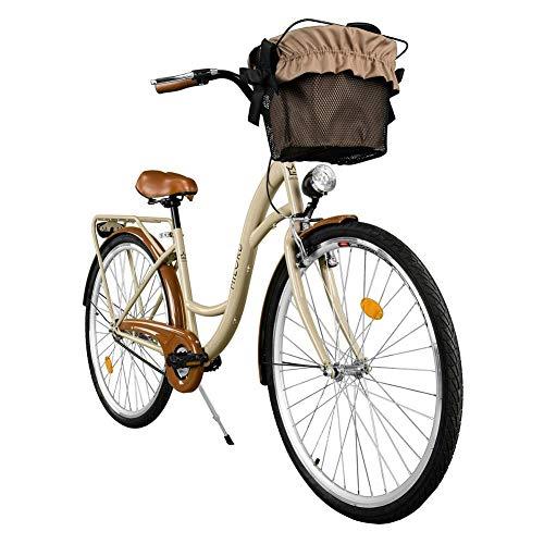 Milord. 2018 Cómoda Bicicleta ciudad Canasta, Bicicleta