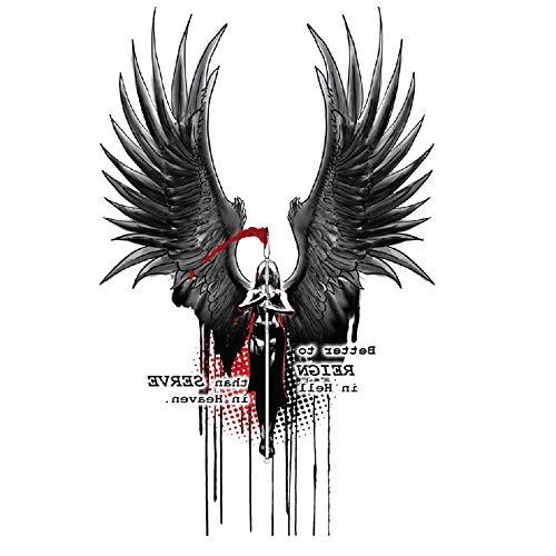adgkitb Engel Dämon europäischen und amerikanischen Stil wasserdicht Tattoo Aufkleber Charakter Männer Aufkleber 29 14,8x21cm