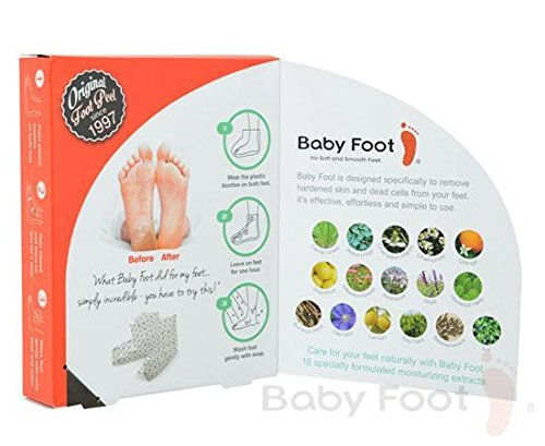Baby foot easy pack original deep skin exfoliation for feet by babyfoot