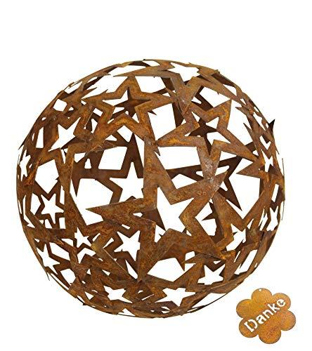 Blümelhuber Sternen Kugel Metall Rost Gartendeko Edelrost 40cm