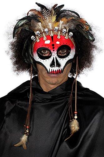 o Zauber Krieger Indianer Medizinmann mit Knochenkette ()