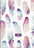 Brunnen 107961502 Buchkalender Modell 796, 2 Seiten = 1 Woche, 148 x 205 mm, Grafik-Einband Mohn, Kalendarium  2019