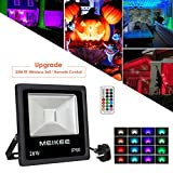 Easter Remote Lights, RGB Flood Lights, 20w Colour Changing LED Security Lights, MEIKEE Outdoor Waterproof Floodlight, RF-Wireless Dimmable 16 Colours remote control, UK 3-Plug, Security lights, Patio Lights, Wall Washer lights.