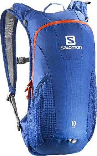 Salomon Zaino Unisex per il running su strada e per l'escursionismo, 10 litri, TRAIL 10, Blu, L38236200
