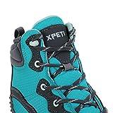 Zapatillas Trekking Mujer,XPETI Zapatos de Senderismo Montaña Alpinismo Escalada al Aire Libre Botas Trail Calzado Altas Impermeables Invierno Bajas Seguridad Azul 37