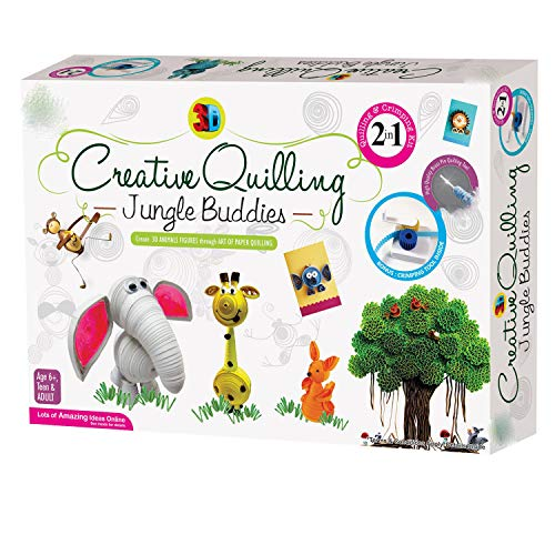 GRAPPLE DEALS Creative Quilling Jungle Buddies Best Way for Increase Child Imagination for Kids.