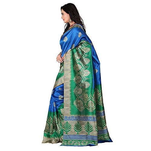 2103ec173 75% OFF on E-VASTRAM Women s Art Mysore Printed Silk Saree (NS4C Royal  Blue) on Amazon