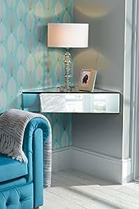 MY- Furniture - Mobilier miroir - Table de chevet / ?tag?re / Rangement d'angle flottant en miroir INGA