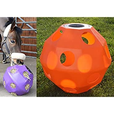 NATS Orange Equine Horse or Pony Hay Ball 50mm Holes