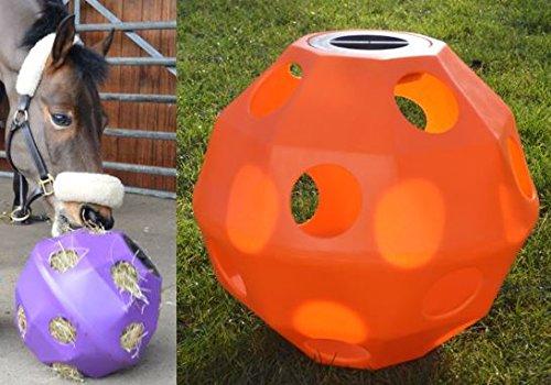 NATS Orange Equine Horse or Pony Hay Ball 50mm Holes