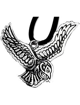 Samhain Anhänger Keltisches Sternzeichen (25. Okt - 16. Nov) 925er Silber Schmuck Amulett Vision mit Lederhalsband...