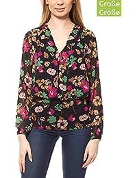4a0f0d7bd6cb Ashley Brooke Chiffon Bluse Druckbluse Damen Blumenprint Schwarz by Heine