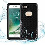 Atree Waterproof Case for iPhone 7/ iPhone 8,IP68 Waterproof Shockproof Dirtproof Snowproof Cover Case,Full Sealed Underwater Protection Cover Case for iPhone 7/ iPhone 8(4.7inch)(Black)