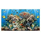 Fisch Tank Hintergrund Dekor Aquarium Ozean Landschaft Wand Aufkleber Meereskoralle PVC Wasserdicht Aquarium Aufkleber 61 * 61cm/152 * 61cm