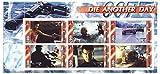 James Bond 007 Stirb an einem anderen Tag Briefmarkenbogen mit 6 Briefmarken für Sammler aus dem Film - 2003 - Guinea - Nicht montierte und frisch