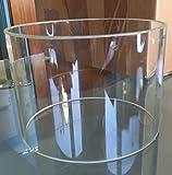 offener Glaszylinder, Ø außen ca. 150 x 3,8 x 150 mm, Enden gefast, transparent