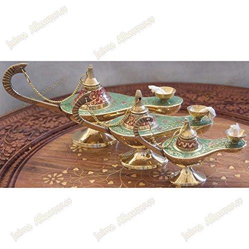 Preisvergleich Produktbild Genie Aladdin Öllampe - Docht aus Baumwolle - Bronze - Neuheit - Rot,  Spiel 3 Größen