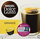 NESCAFÉ Dolce Gusto Grande Mild, Kaffeekapseln, 100% Arabica Bohnen, Mildes Aroma und feine Crema , Leicht bekömmlich, Aromaversiegelte  Kapseln, 1er Pack (16 Kapseln) 128 g