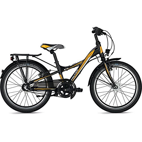 Kinder-/Jugendrad Falter FX 203 Pro Y-Lite 20' Rh 28cm 3G Rücktritt Riemenantrieb, Farben:Schwarz-Matt