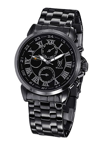 Konigswerk Herren Uhr Analog Quarz mit Metall Armband AQ202465G