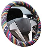 Best Steering Wheel Covers - Mayco Bell 2016 Ethnic Style Coarse Flax Cloth Review