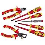 Elektro Werkzeugsatz 7tlg. VDE 1000V schutzisoliert Elektriker Werkzeug Set
