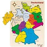 Goki 57860 - Einlegepuzzle - Deutschland II
