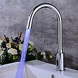 ETERNAL QUALITY Badezimmer Waschbecken Wasserhahn Messing Hahn Waschraum Mischer Mischbatterie Tippen Sie auf Mischpult alle Becken-Messing Chrom Waschtisch Armatur kreat