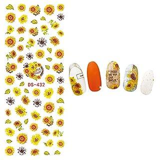 Fansi 5PCS Stylish Nail Art Sticker Watermark Applique Creative Sunflower Pattern Nail Art Set DIY Nail Art Accessories