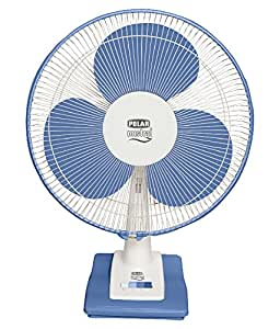 "Polar (400mm) Mistral Electric Osc. Table Fan - FT40C1 ""White - Blue"""