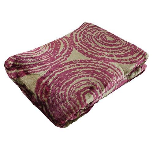 Amago 40037-40-150200 Cashmere-Feeling Wohn und Kuscheldecke, Polyester, Lila, 150 x 200 cm