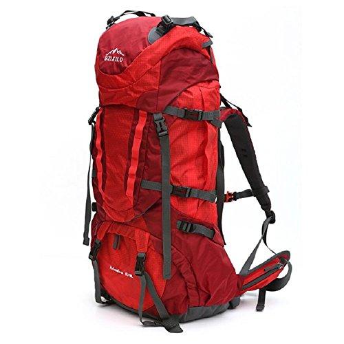 ZC&J Outdoor-Multifunktions-Bergsteigen-Tasche, Sport-Casual-Rucksack, mit Regenhülle Wandertasche A