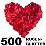 Sellmando 500 Stück Künstliche Rosenblätter, Farbe: Rot