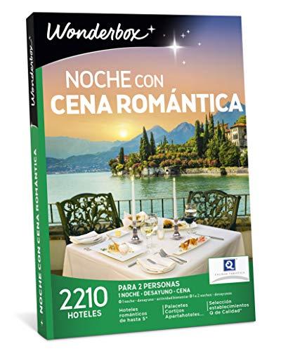 WONDERBOX Caja Regalo - Noche con Cena ROMÁNTICA - 2 210 hoteles en España  y Europa