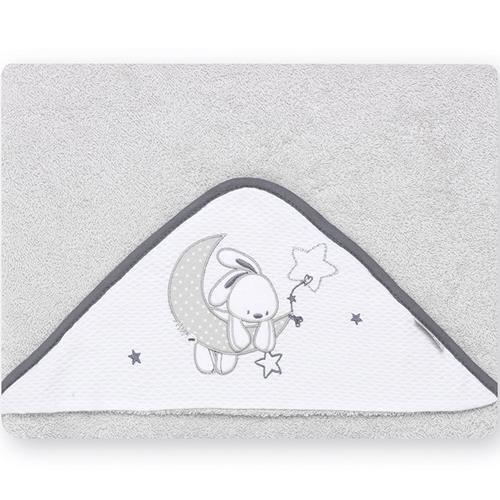 pirulos 00713120–maxicapa, Design Mond, 100x 100cm, weiß/grau