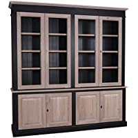 Comparador de precios Casa-Padrino Country Style Living Room Cabinet Black/Natural 222 x 48 x H. 228 cm - Living Room Furniture in Country Style - precios baratos